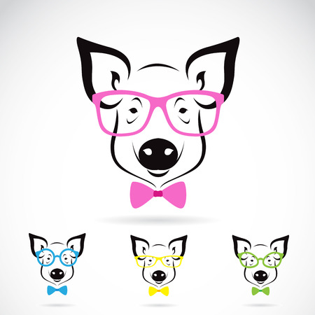 image of a pig glasses on white background. Fashion Vector