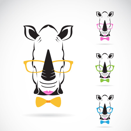 image of a rhino glasses on white background. Fashion Vector
