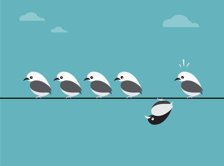 heterogeneous: image of birds group. Different concepts