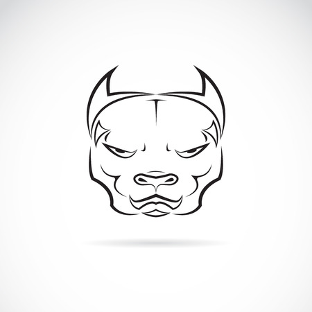 dog head on white background Vector