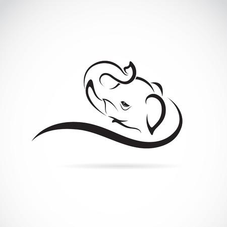 asian elephant: image of an elephant on a white background Illustration