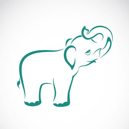 beeld van een olifant op een witte achtergrond Stock Illustratie
