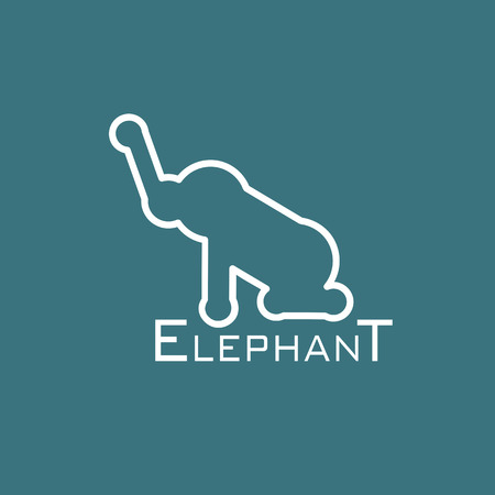 dignified: image of an elephant design on blue background Illustration