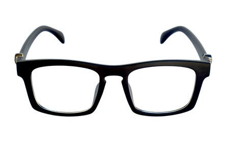 nerd glasses: black glasses isolated on a white background