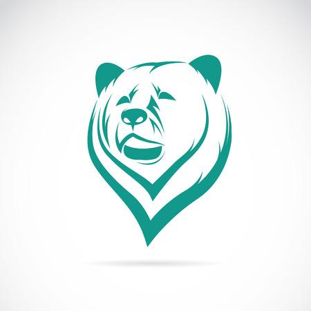 白い背景の上のクマ頭のベクトル画像  イラスト・ベクター素材
