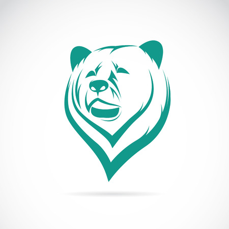 oso blanco: Vector de imagen de una cabeza de oso en el fondo blanco