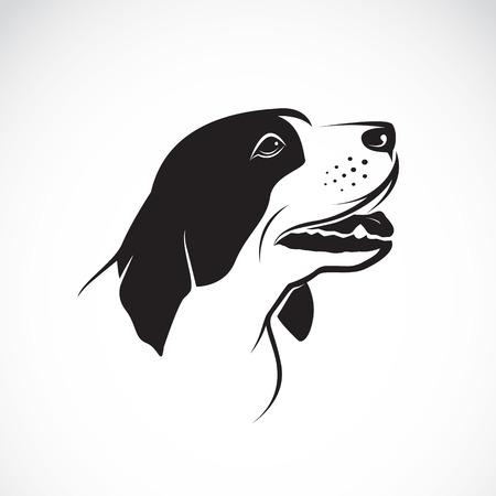Vector de imagen de un perro en el fondo blanco