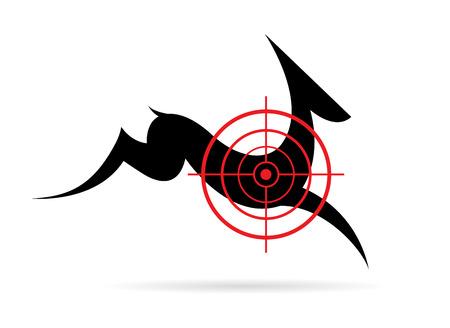 deer hunter: Vector image of a deer target on a white background.