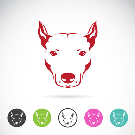 Vector image of a dog head on white background Illustration