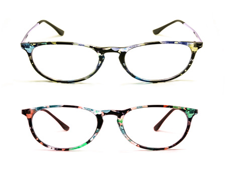 protective spectacles: Eye glasses isolated on a white background Stock Photo