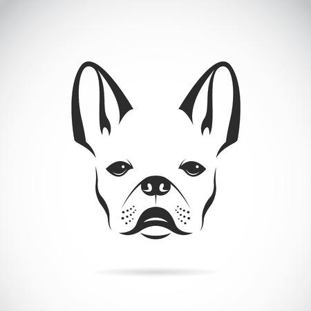 Vector Bild von einem Hund (Bulldogge) auf weißem Hintergrund