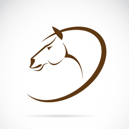Vector images of horse design on white background. Vector