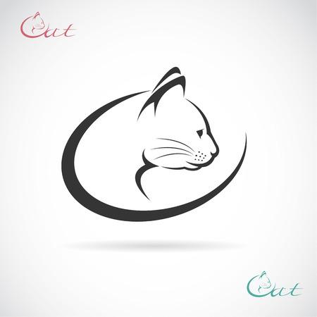 Vector de imagen de un diseño del gato en el fondo blanco. Vectores