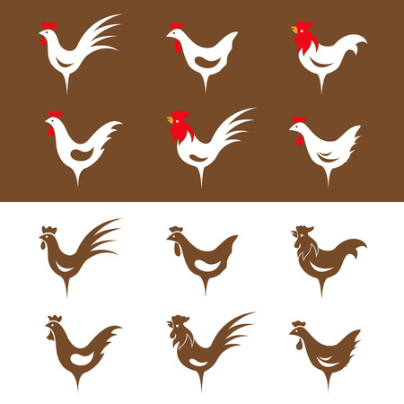 Vector group image of an chicken design Vector