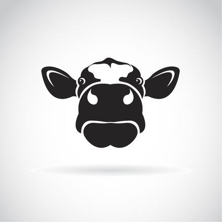cartoon cow: Vector de imagen de una cabeza de vaca en el fondo blanco