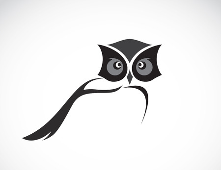 Vector image of an owl design on white background Vettoriali