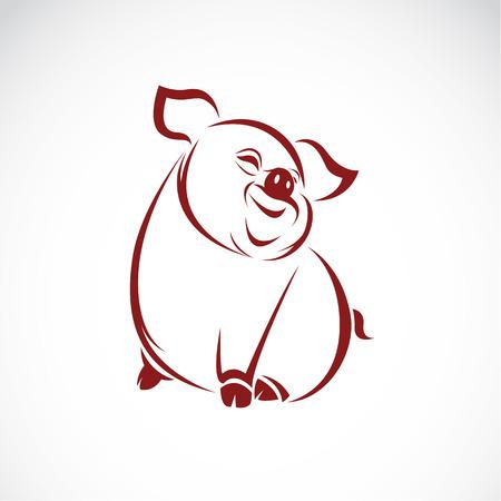 Vector afbeelding van een varken op een witte achtergrond