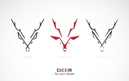 白い背景の上の鹿デザインのベクター画像