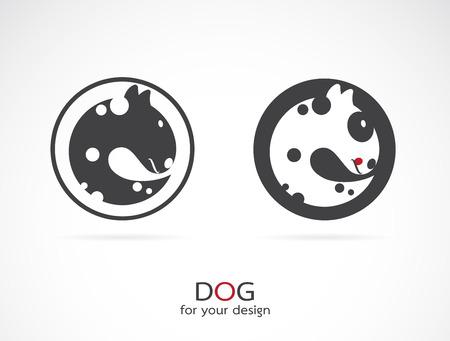bull terrier: Vector image of an dog design on white background