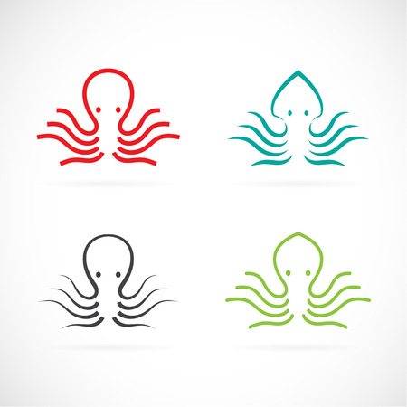 Vector image of an octopus design on white background.