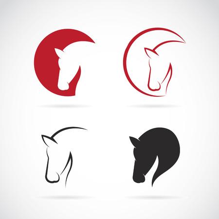 Vector Bilder von Pferdeentwurf auf einem weißen Hintergrund