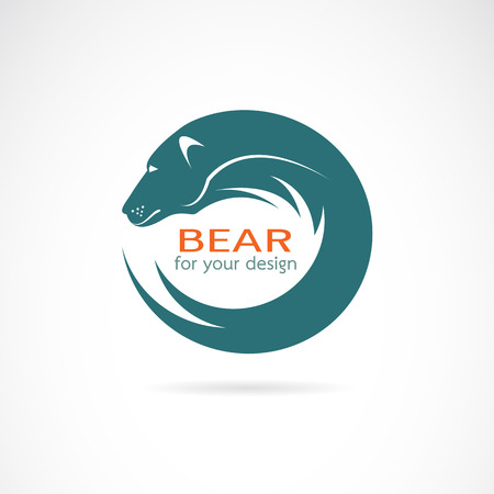 bear silhouette: Vector image of an bear design on white background Illustration