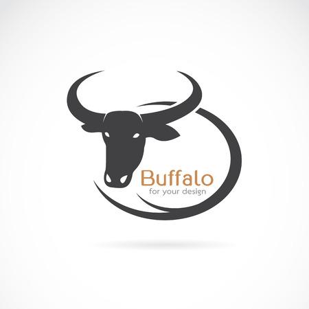 Vector beeld van een buffel ontwerp op een witte achtergrond.