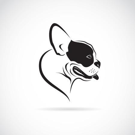 Immagine vettoriale di un cane (bulldog) su sfondo bianco Archivio Fotografico - 40081153