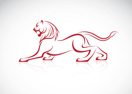 rampant: image of an lion design on white background