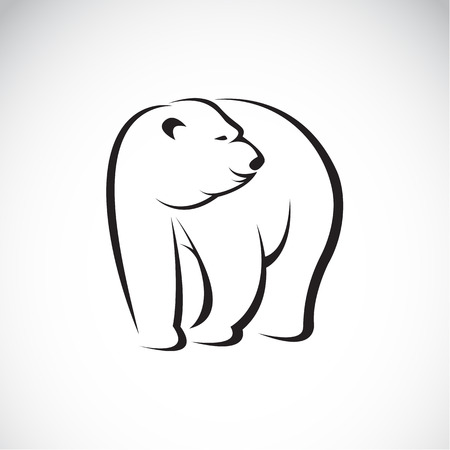 image of an bear design on white background