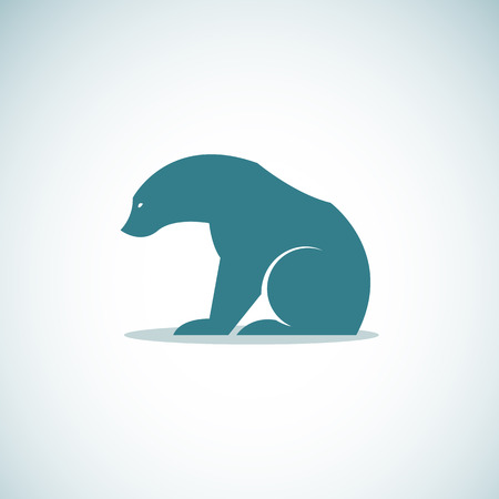 bruin: Vector image of an bear on white background