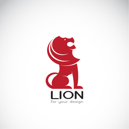white lion: Vector image of an lion design on white background Illustration