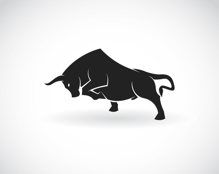 persistence: Vector image of an bull on a white background
