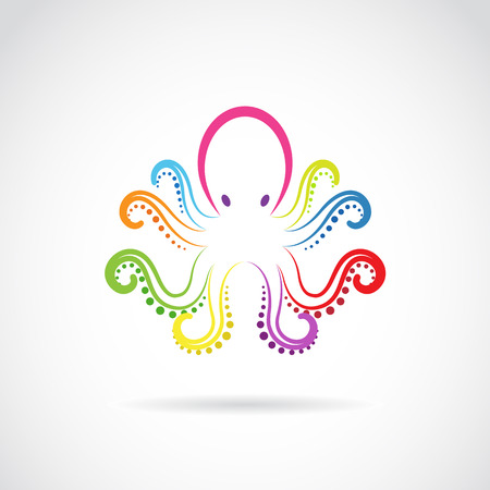 giant: Vector image of an octopus design on white background.