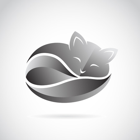 Vector image d'une conception de chat sur fond blanc. Illustration