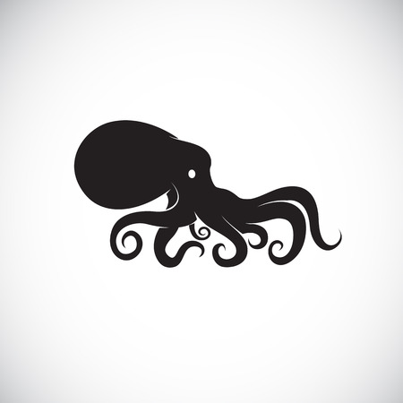 Vector image of an octopus on white background. Vectores