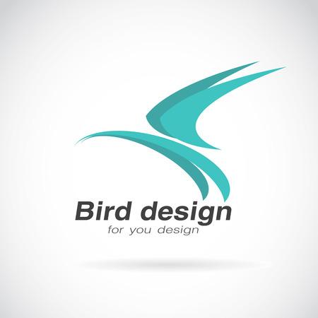corporative: Vector image of bird design on white background.