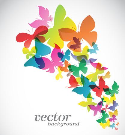 白い背景のベクトル図に蝶のデザイン  イラスト・ベクター素材