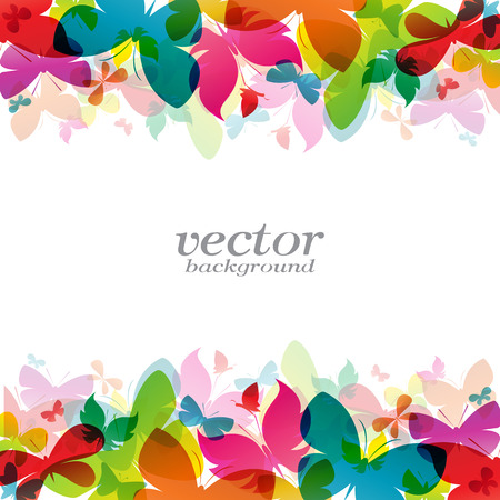 butterfly background: Butterfly design on white background - Vector Illustration, background