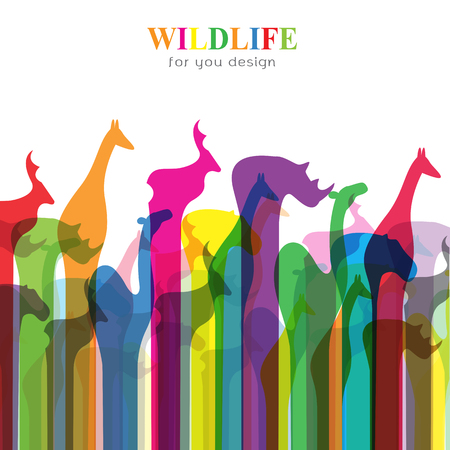 wildlife: Vector image of an animal groups. Wildlife