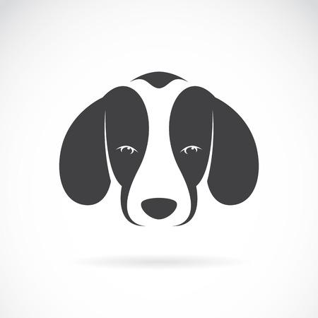 Vector la imagen de un perro beagle en el fondo blanco Ilustración de vector