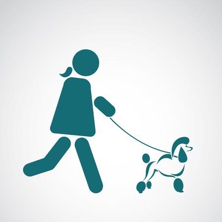 confidant: Vector image of an walking dog on white background Illustration