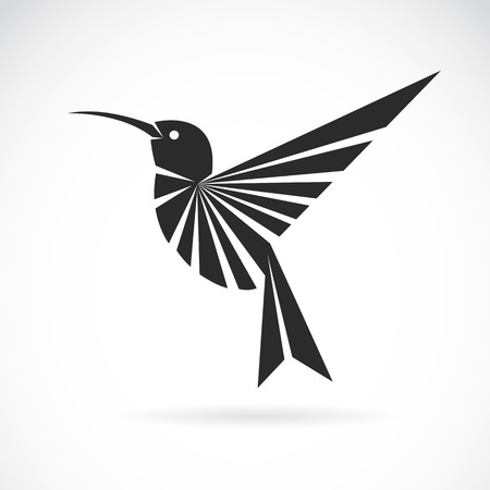 stylised: Vector image of an hummingbird design on white background Illustration