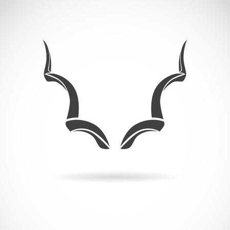 tribales: imagen del vector de un cuernos sobre un fondo blanco, Gran kudu
