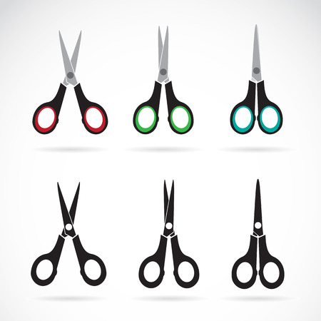 scissors icon: Vector scissors icon set on white background Illustration