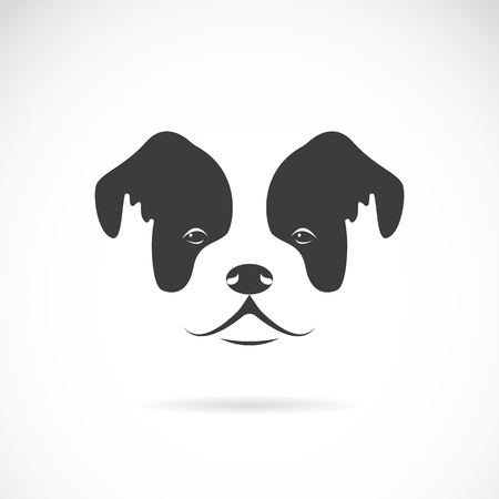 bulldog puppy: Vector image of an dog face (bulldog) on white background