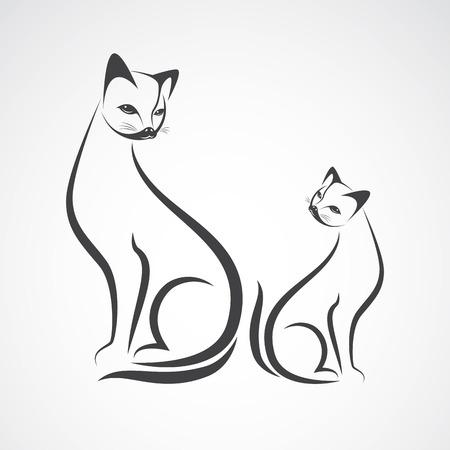 Vector Bild eines Katzenentwurf auf einem weißen Hintergrund