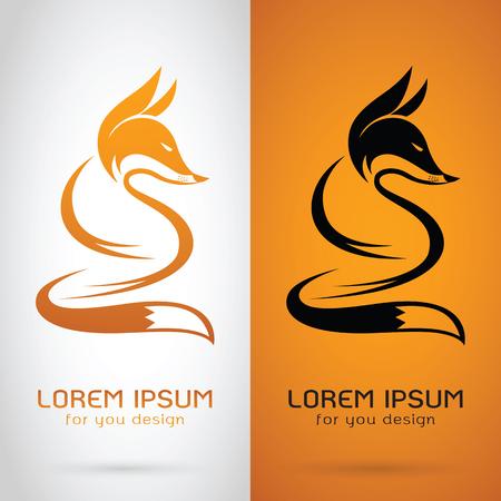 Vector afbeelding van een vos ontwerp op een witte achtergrond en oranje achtergrond, Logo, Symbol