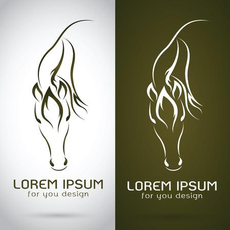 carreras de caballos: Vector de imagen de un dise�o del caballo en el fondo blanco y marr�n de fondo, logotipo, s�mbolo