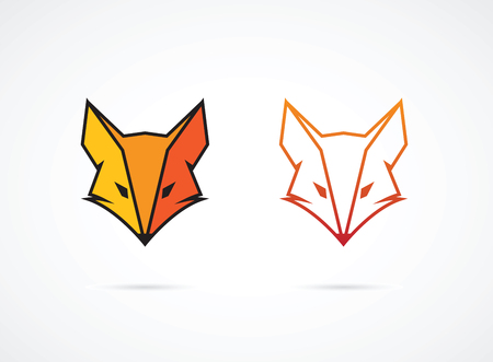 Vector image of an fox face design on white background Banco de Imagens - 49501558